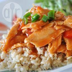 Photo de recette : Poitrines de poulet BBQ à la mijoteuse