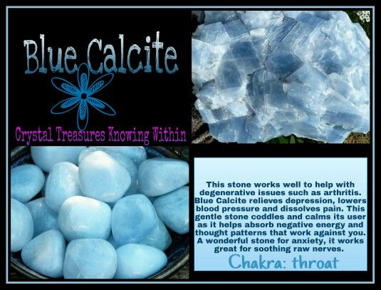 BLUE CALCITE MEANING PROPERTIES www.crystaltreasuresknowingwithin.com