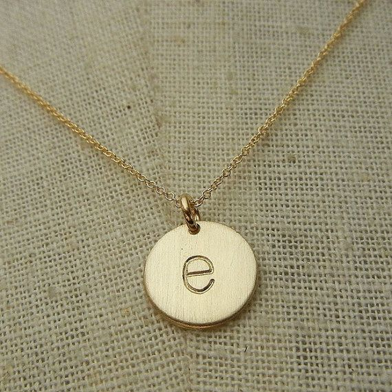 Just got this from Etsy this week: Gold Letter Necklace, lowercase typewriter 14K gold-filled charm letter necklace CHELSEA GOLD by E. Ria Designs