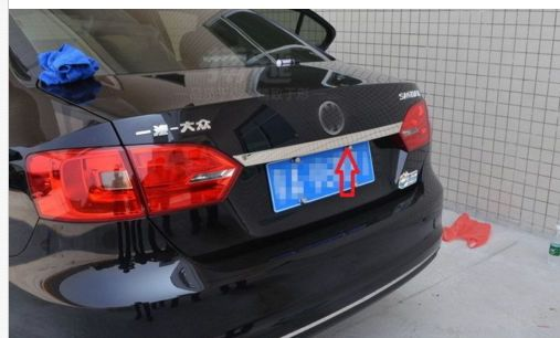 ==> [Free Shipping] Buy Best Stainless Steel Rear Trunk Lid Chrome For VW Jetta 6 MK6 Sedan 2011 2012 2013 Online with LOWEST Price | 1802735159