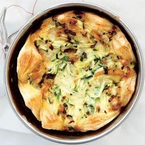 Courgettetaartje in bladerdeeg recept - Groente - Eten Gerechten - Recepten Vandaag