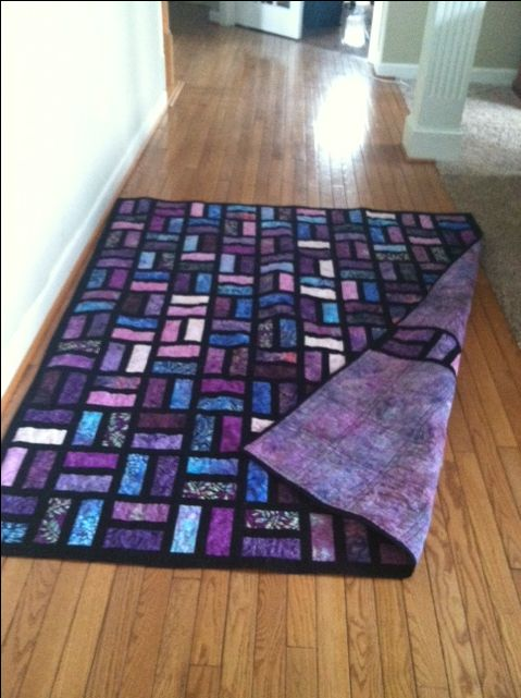 "Batik Quilt uses 2.5""x6.5"" strips and 1.5 in sashing Quiltingboard"