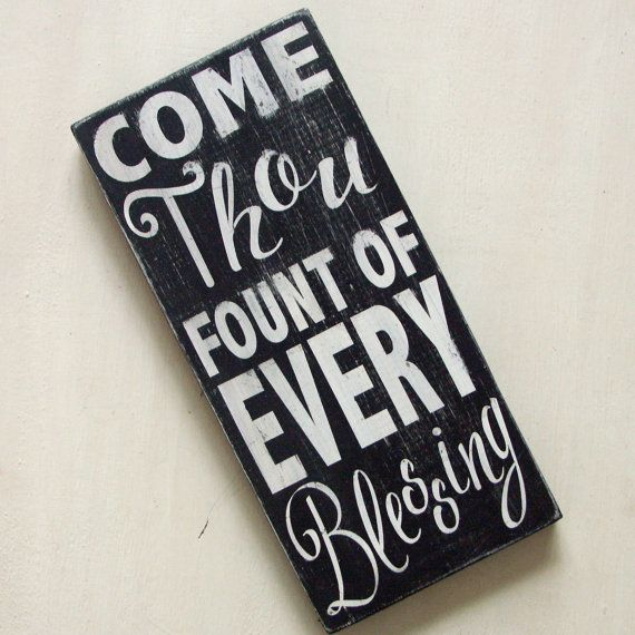 Come Thou Fount of Every Blessing. Wooden by BloomAndGrowStudio, $18.00