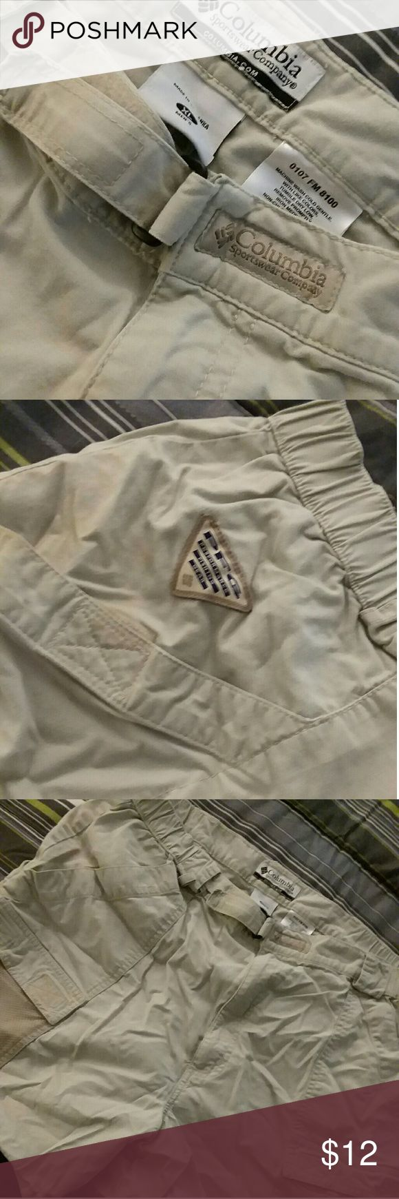 Columbia PFG Fishing Shorts Performance Fishing Gear by Columbia. Quality and Performance all rolled into one mean pair of shorts. Designed to handle everything the avid fisherman can throw at them. Great Condition, worn once. Columbia Shorts Cargo
