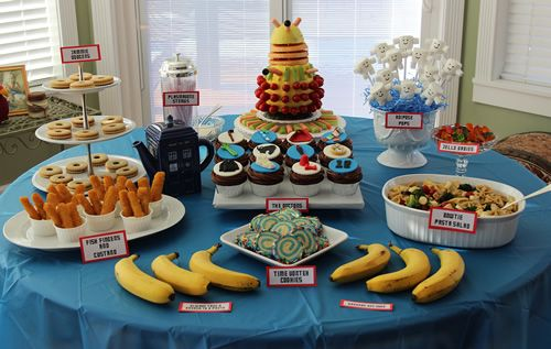 Our kid will probably have a Dr Who party one of these days, whether they like it or not!