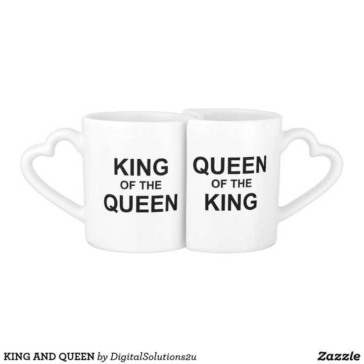 KING AND QUEEN COFFEE MUG SET