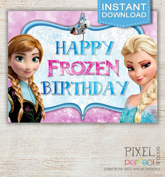 Best 25 frozen birthday sign ideas on pinterest frozen party frozen birthday invitations thank you cards and party favors for any occasion all custom and original designs created by pixel perfect shoppe stopboris Image collections