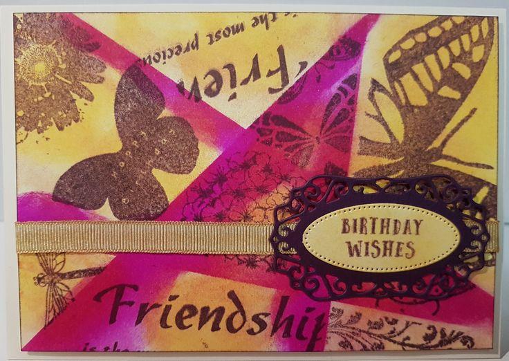 Retiform Butterflies & Flowers card