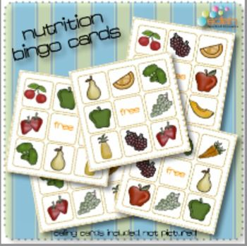 Nutrition/Food Bingo My preschoolers are going to love this!