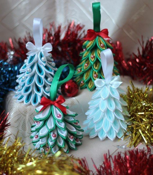 17 Best Images About Ornaments Kanzashi On Pinterest