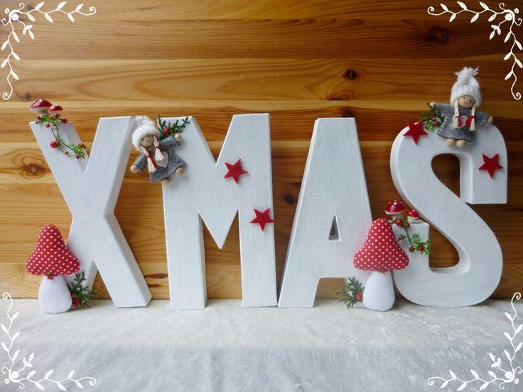 X-MAS Schriftzug als weihnachtliche Dekoration XXL von Die Geschenkidee auf DaWanda.com