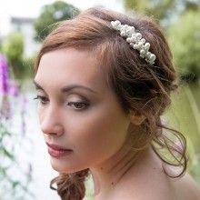 Lilly headpiece from £75, available to try on at Lace & Co. Bridal Boutique #vintage