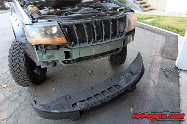 Trail Ready Jeep Grand Cherokee Wj Front Bumper Install Jeep Zj
