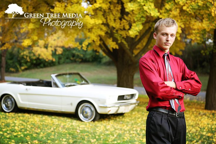Dress shirt and tie with dress slacks and of course an awesome old car! #senior #photography #boy
