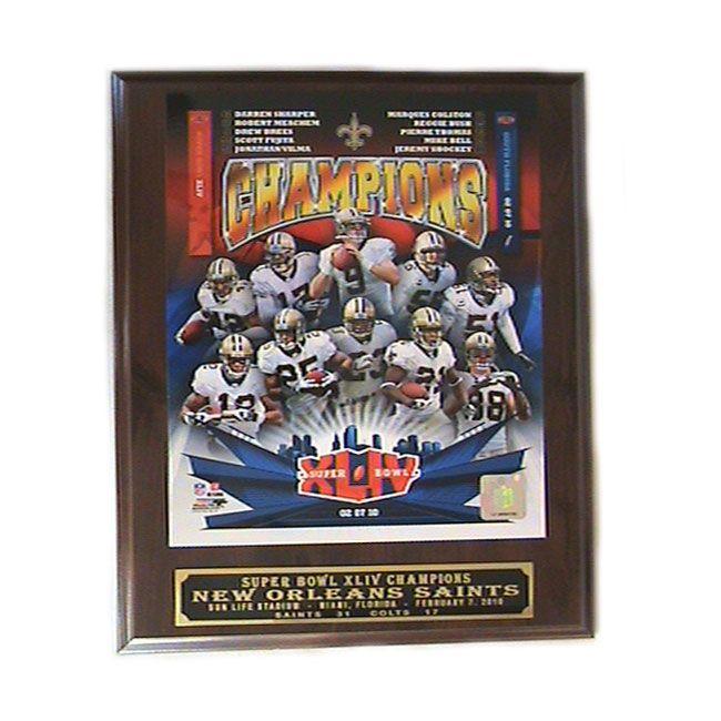 NFL New Orleans Saints Super Bowl 2009 Winner Picture Plaque, Red