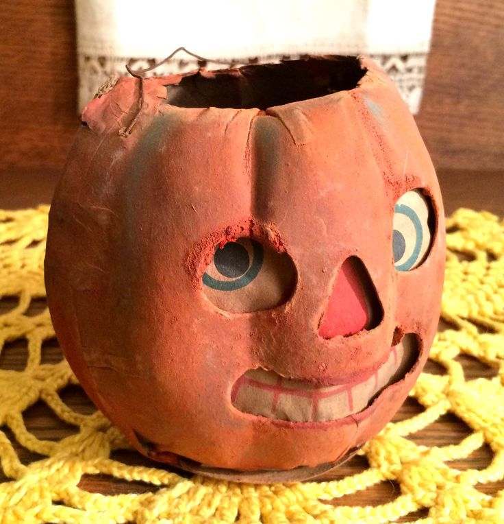 56 best jack o 39 lanterns antique vintage images on for Papier mache lanterns