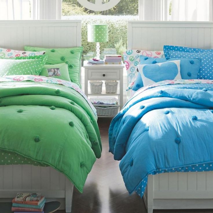 bedroom cool soft color theme twin girls bedroom ideas with green and blue bedding for girls bedroom bedroom