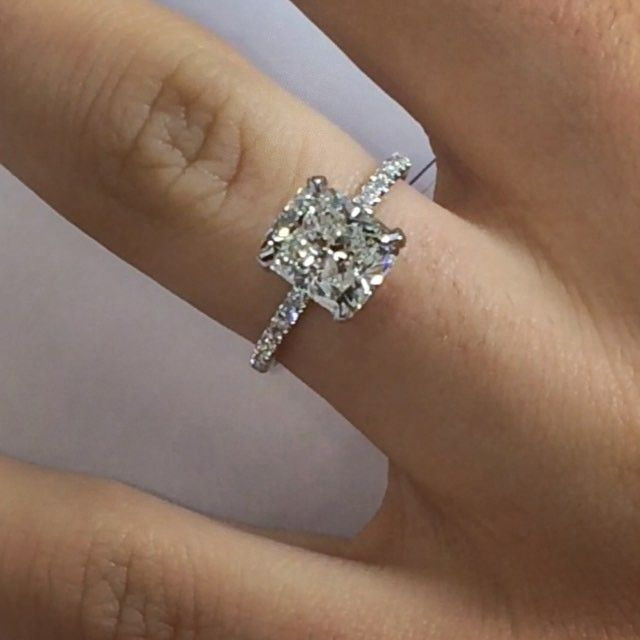 The Other More Popular Style Of Non Halo Cushioncut Engagement Rings Is Certainly Our Fam