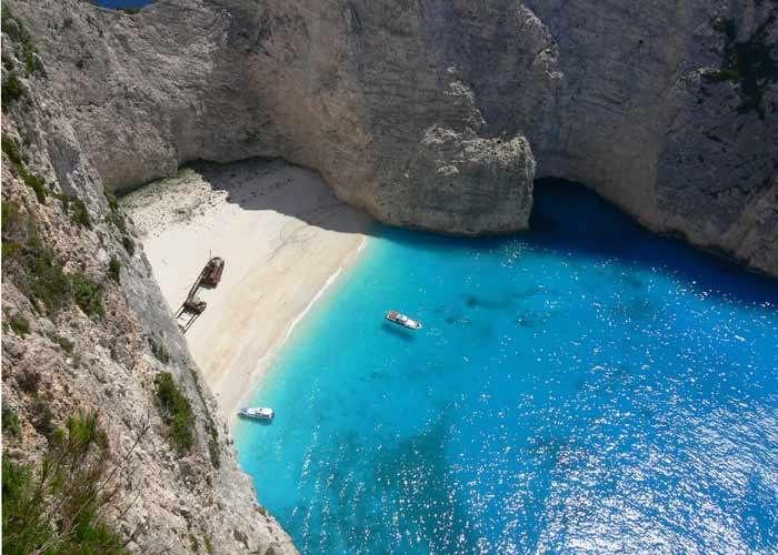 Shipwreck island, Greece
