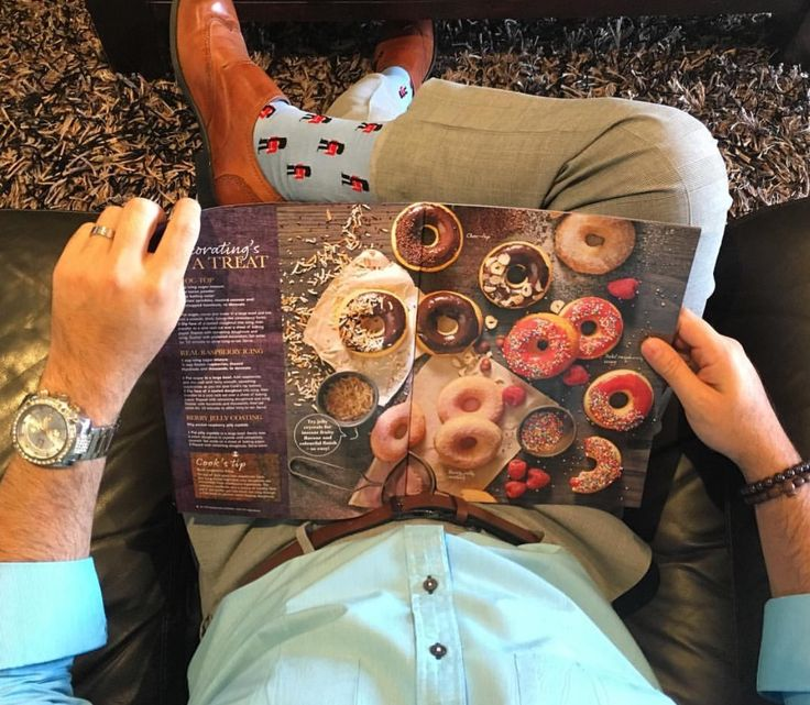 Dreaming of Doughnuts!  Got my British Royal Guards socks to protect and keep my doughnuts safe!