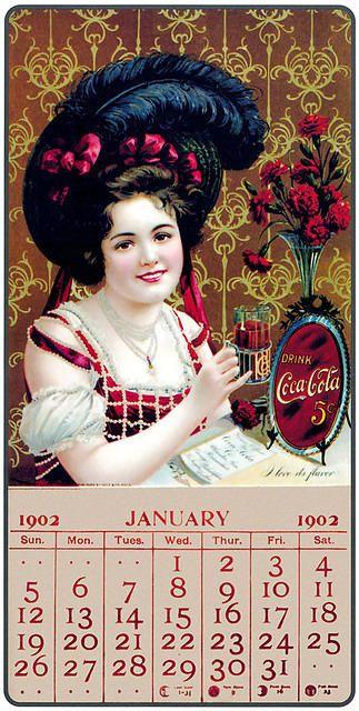 Calendário de Coca Cola  de 1902