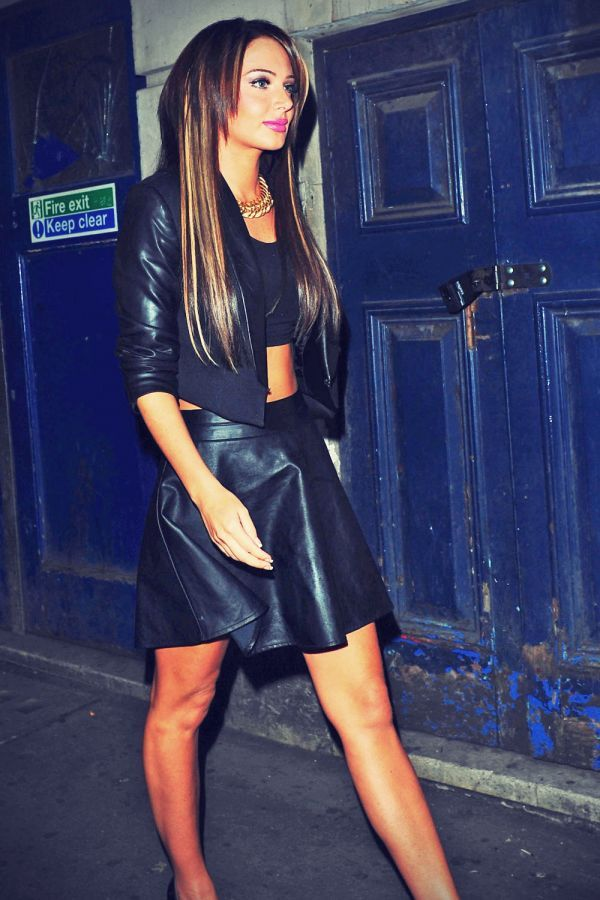 Tulisa Contostavlos attends Chelsee Healey's birthday