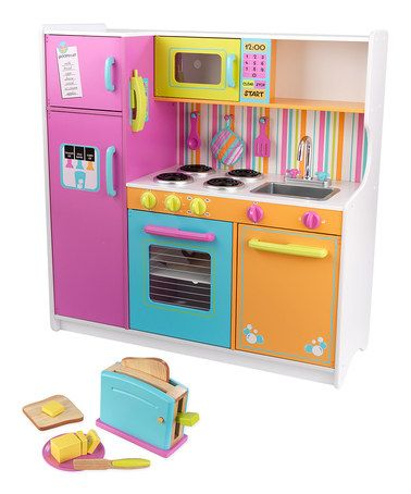 Take a look at this Deluxe Big & Bright Kitchen & Bright Toaster Set by KidKraft on #zulily today!