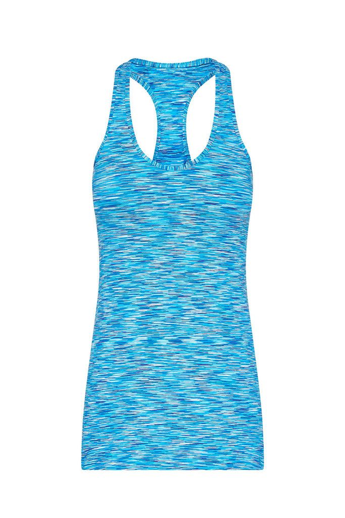 Racer Back Sports Tank - Cascade Blue – Dharma Bums Yoga and Activewear