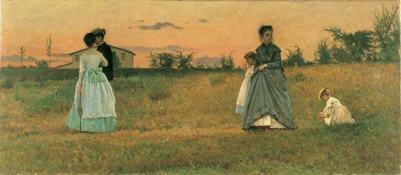 Promessi Sposi, Silvestro Lega, 1870, Museo Leonardo da Vinci, Milano, olio su tela