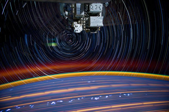 jsc2012e051505_alt by NASA_JSC_Photo, via Flickr: Photos, Spaces, Space Station, Stars, Camera, Long Exposure, Earth
