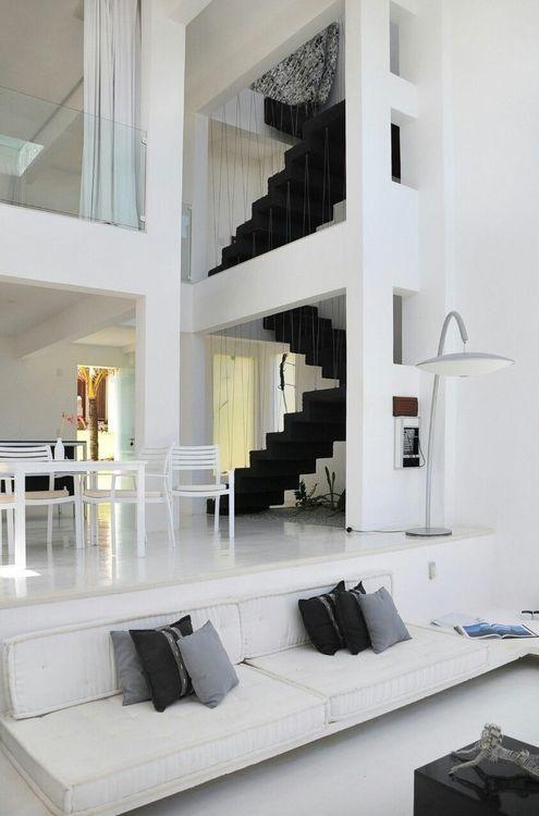 Contemporary Interior design - white decor via Debra Levy