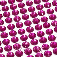 Wholesale Self-Adhesive Diamantes - 6mm Round Fuchsia - Sheet of 100