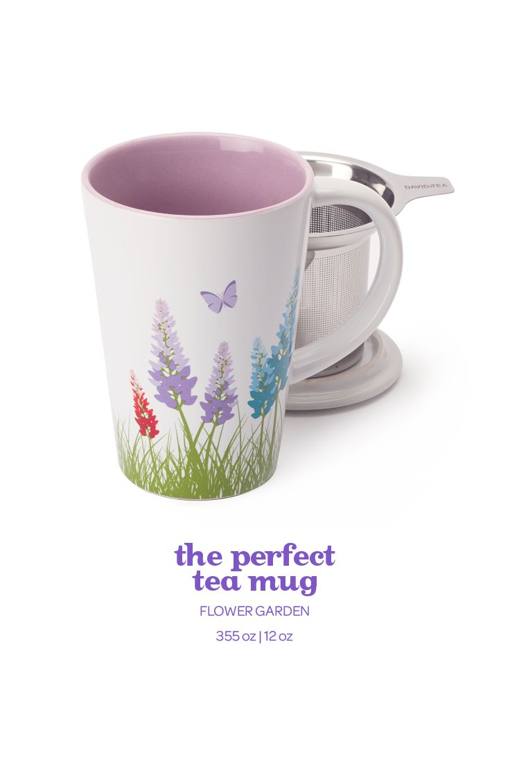 Celebrate spring with this fresh flower-printed perfect mug.