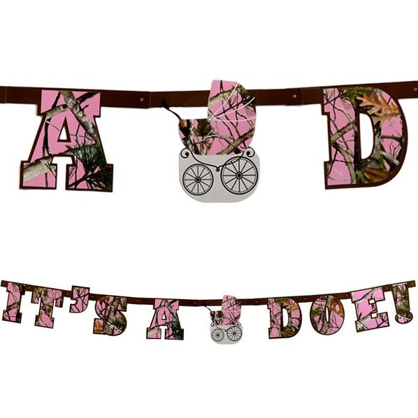 Check out Pink Camo It's a Doe Banner Decoration - Wholesale Individualized Party Supplies from Wholesale Party Supplies