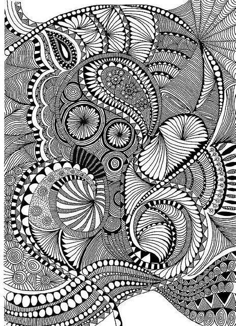 Zentangle like - zentangle inspired - zentangle patterns - #zetangle - black and white zentangle drawing