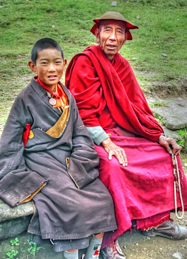 Monks of Litang in historic Tibetan Province of Kham, now part of Sichuan Province.