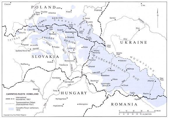 Map Carpatho-Rusyns