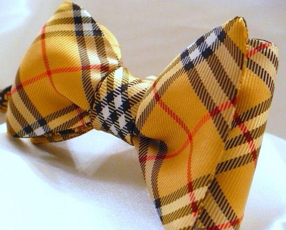Yellow Burberry Bowtie