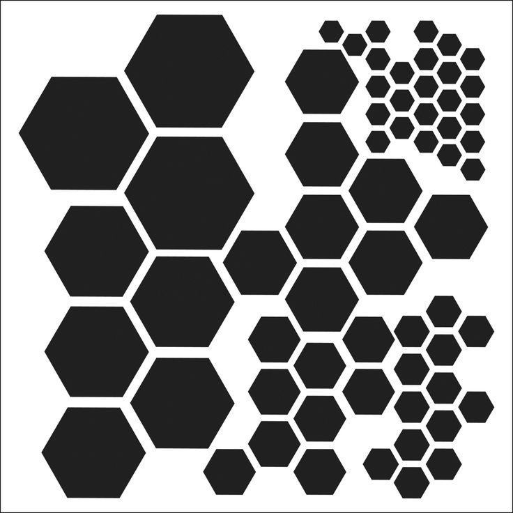 Crafter's Workshop Templates Hexagons 12'' x 12'