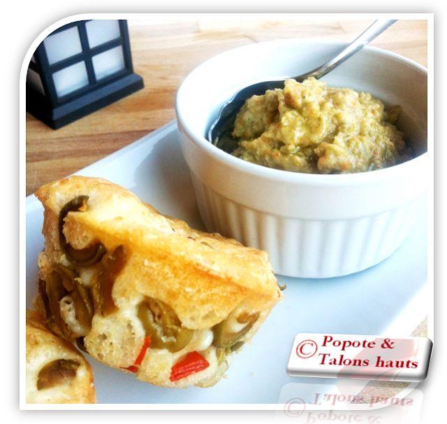 Popote & Talons hauts: Petits pains maison et tapenade d'olives vertes et...
