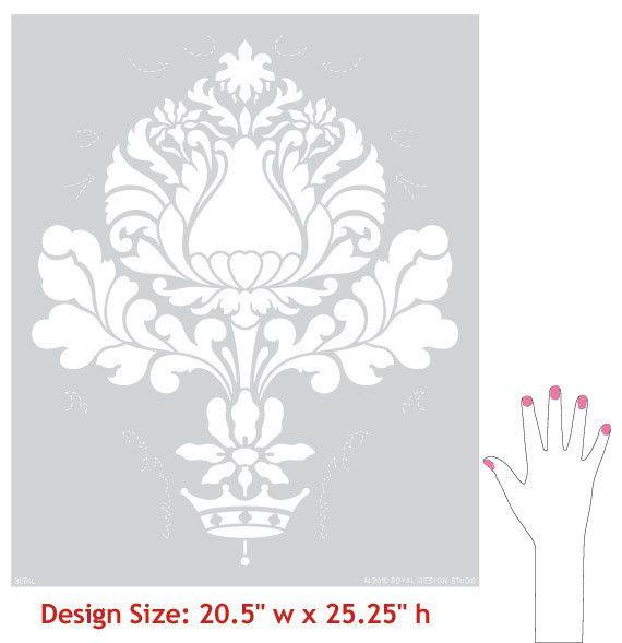 Итальянский дизайн и Викторианский декор дома - Корсини Дамасской настенной живописи трафареты для DIY пользовательские обои Look - Royal Design Studio