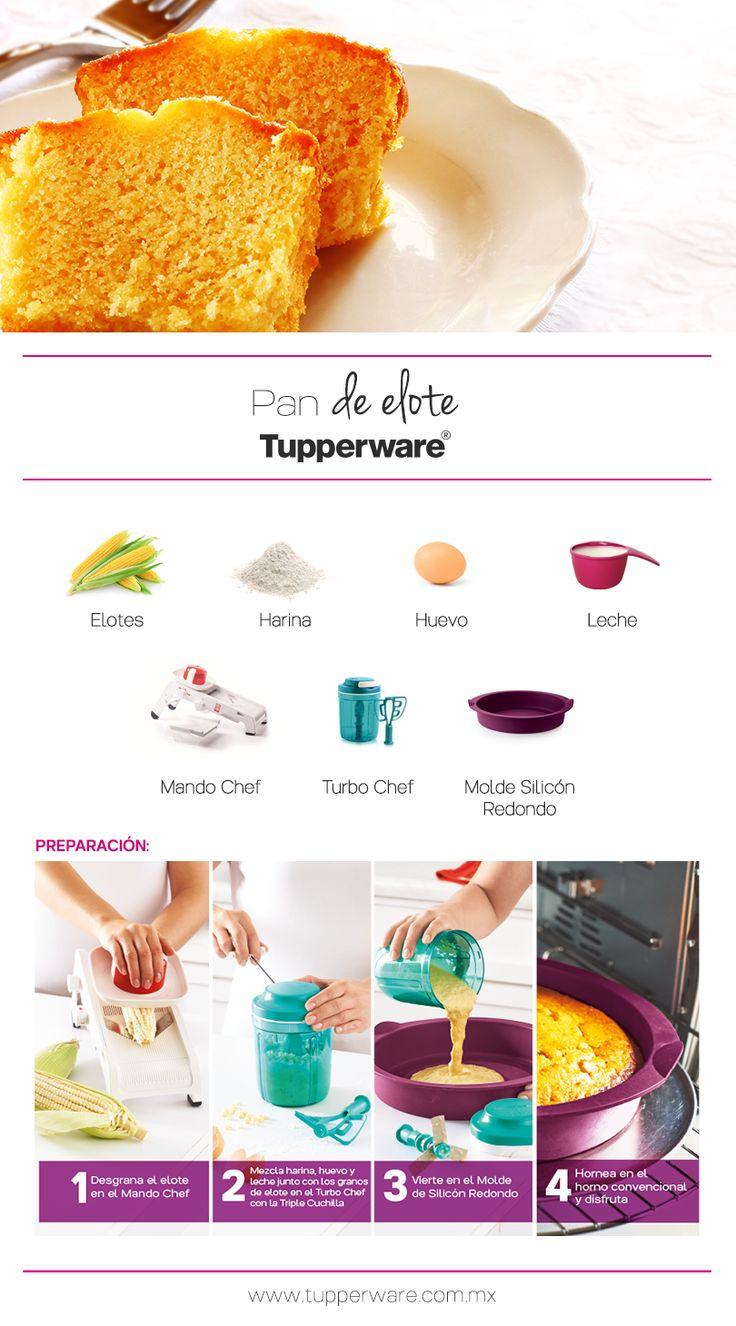 Pan de Elote #Receta Tupperware #Tupperware