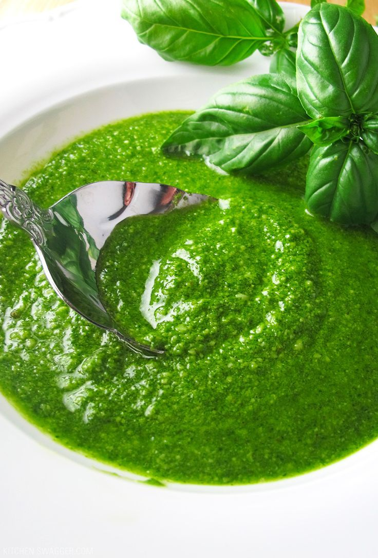 Fresh homemade basil pesto can be used as a spread on sandwiches, cooked with seafood or chicken, or used to liven up dipping oil for bread. And it's easy!
