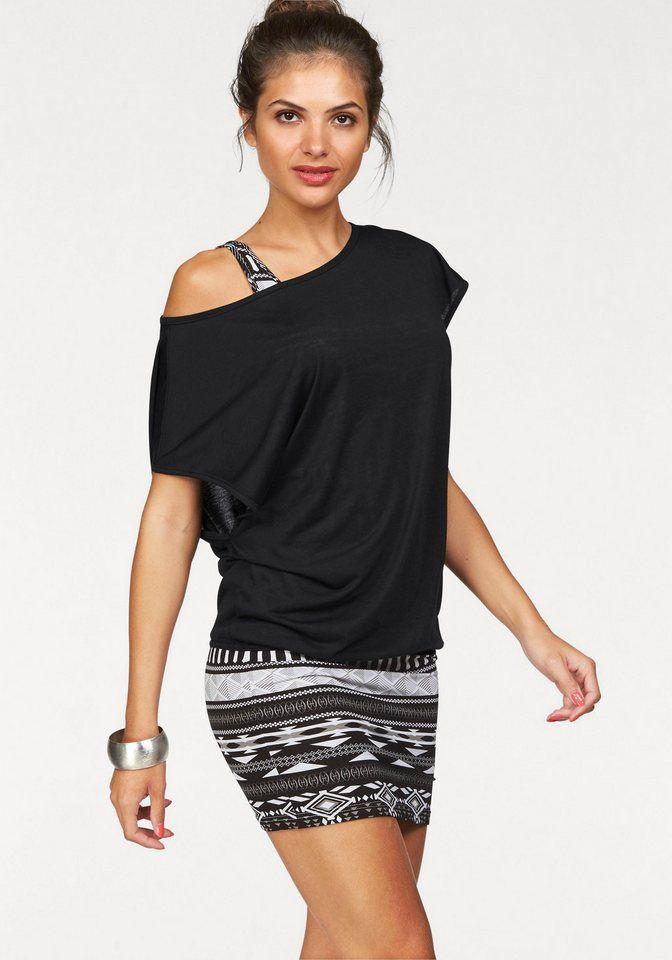 #AJC #Damen #AJC 2 in #1 #Kleid mit #Ikat #Muster aus #Jersey #(Set, 2 #tlg.) #schwarz Materialzusammensetzung , Obermaterial: 95% Viskose, 5% Elasthan. Oberteil: 100% Polyester, |Material , Materialmix, |Materialart , Jersey, |Optik , gemustert, ethno, mehrfarbig, |Stil , modisch, |Ausschnitt , Rundhals, |Kleidersaum , abgesteppt, |Passform , figurbetont, |Besondere Merkmale , mit Ikat Muster aus Jersey, |Rückenlänge , ca. 86 cm, |Auslieferung , liegend, | <br /> Materialzusammensetzung…