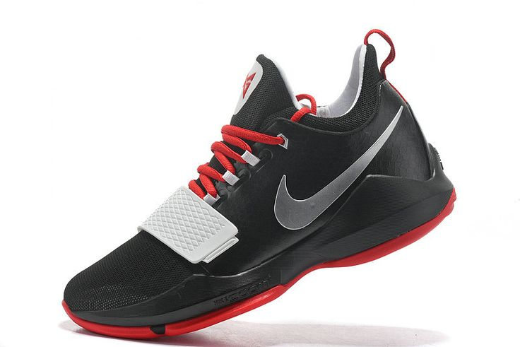 Free Shipping Only 69$ Nike PG Paul George 1 Black SiLVSer Bred University Red