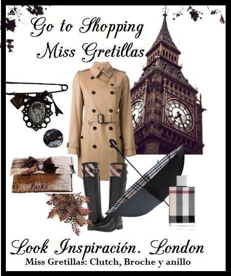Estilismo look Londinense. Broche camafeo y bolso