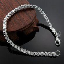 Посеребренные 4 мм коробка творческих женщин симпатичные хороший браслеты на сайте объявлений , высокое качество мода ювелирных рождественские подарки(China (Mainland))