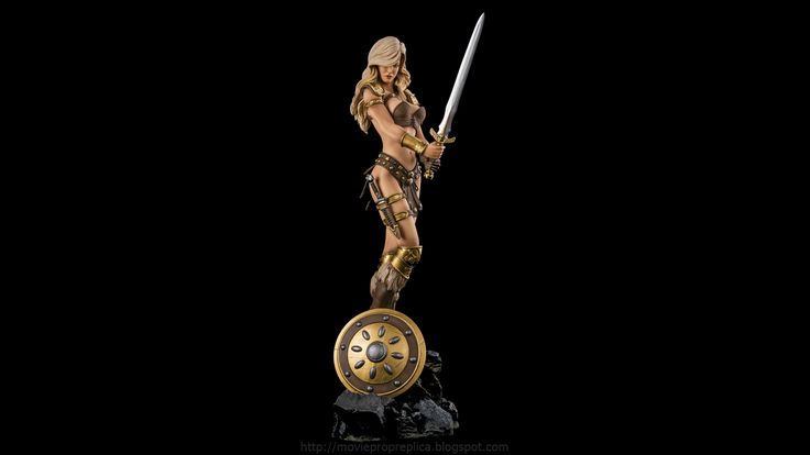 Fantasy Figure Collection: Arhian, The Head Huntress ¼th Scale Painted Polystone Statue