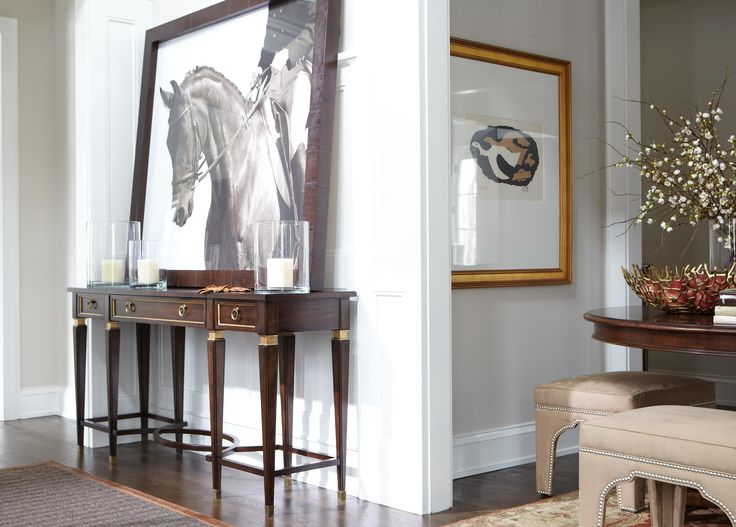 Foyer Table Ethan Allen : Entry piece is sophisticated classic lines gilding