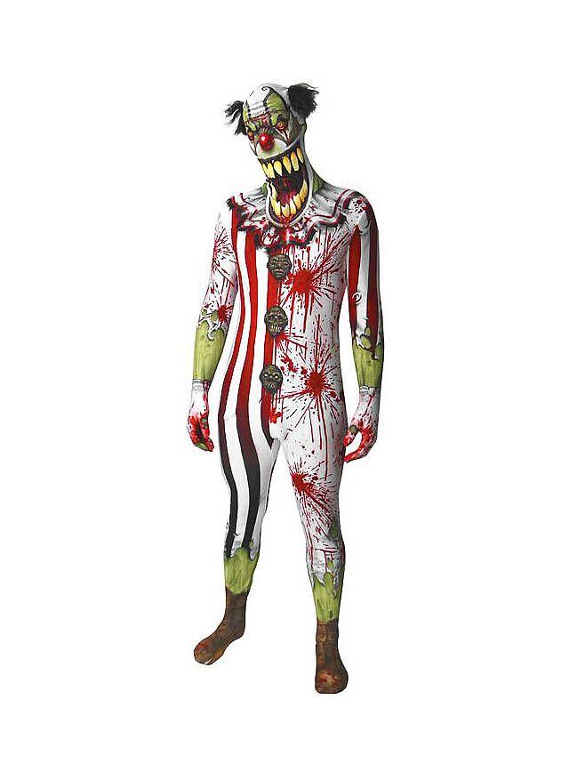 Horrorclown Morphsuit Ganzkörperanzug ► Jetzt kaufen | maskworld.com -#halloween #costume #horror #clown